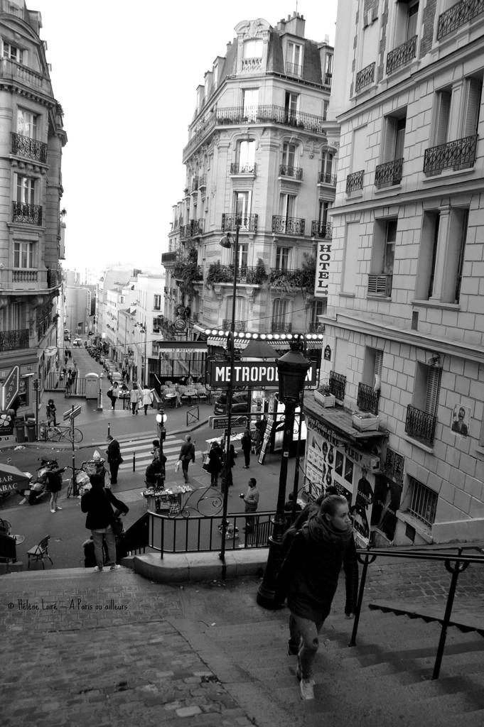 Montmartre stairs  by parisouailleurs
