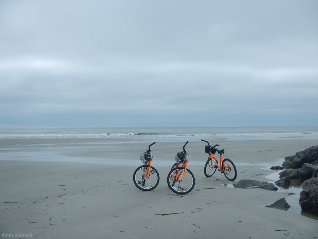 Cycling on the beach by rhoing