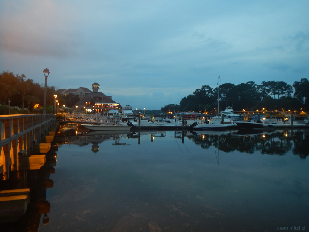 Shelter Cove Harbour & Marina at sunset by rhoing
