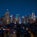 NY Skyline at Night by jyokota
