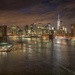 View from the Manhattan Bridge by taffy