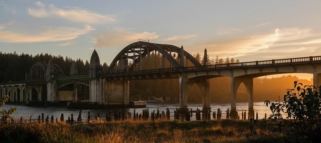 Golden Light On the Bridge by jgpittenger