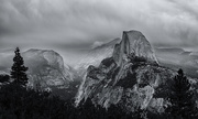 4th Oct 2015 - Stormy Morning On Glacier Point b and w