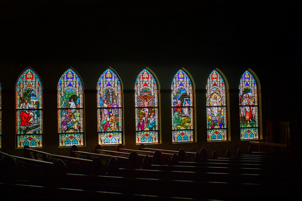 Stained Glass Windows-First English Lutheran Church-Spencer, Iowa by seattle