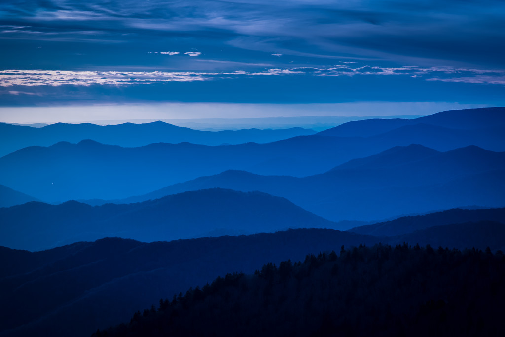 """Smoky Mountains Day 2 """"Blue Hour Sunset"""" by darylo"""