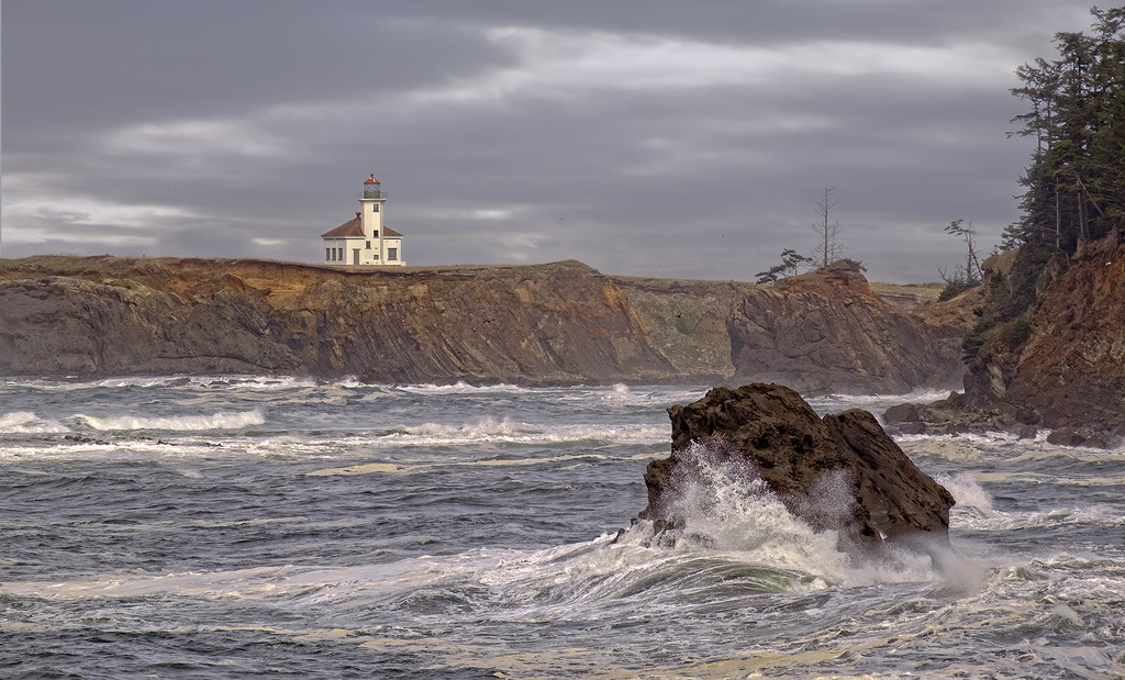 Cape Arago Lighthouse  by jgpittenger