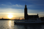26th Oct 2015 - Sunset on our last day in Stockholm