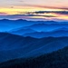 Blue Hour Sunset Over the Smokies by taffy