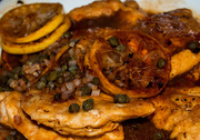 15th Nov 2015 - Lemon Chicken with fried capers