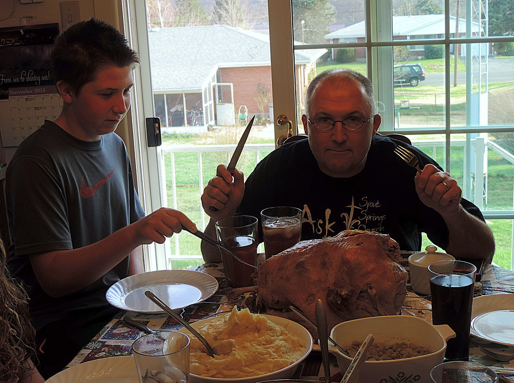The Mad Carver and his assistant, The Crazy Kid! by homeschoolmom