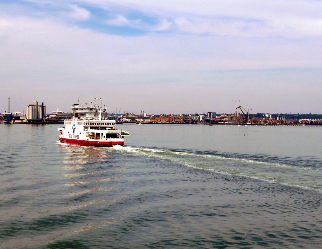 Red Funnel Crossing.... by brickmaker