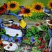 Sunflowers and birds puzzle finished. by sailingmusic