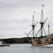 Towing the Mayflower II thru the Cape Cod Canal