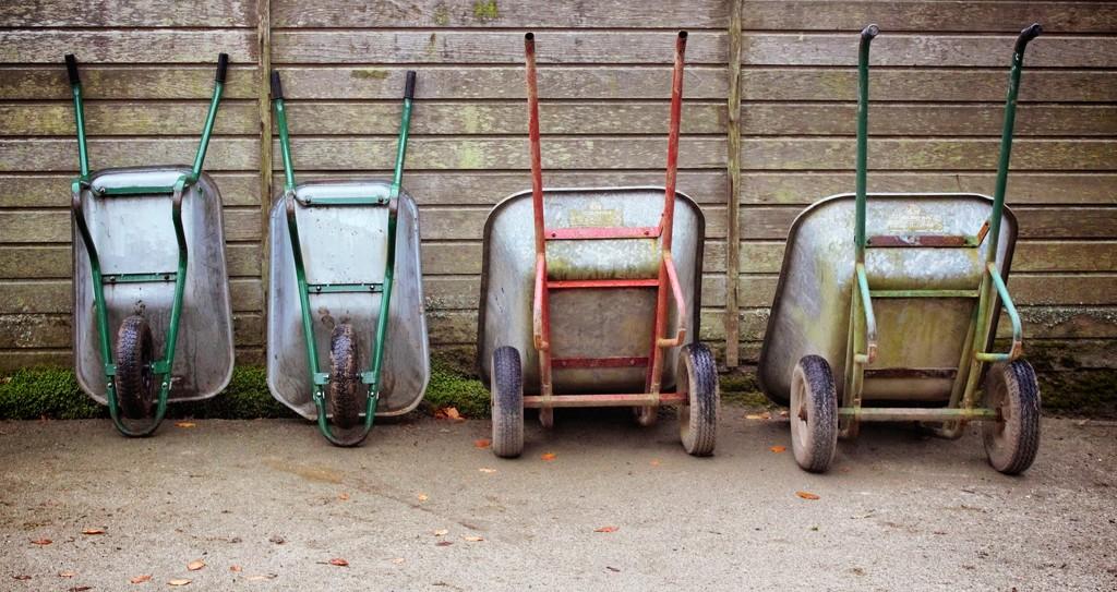 Wheelbarrows by swillinbillyflynn
