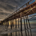 Sun Sets at the End of the Pier by taffy