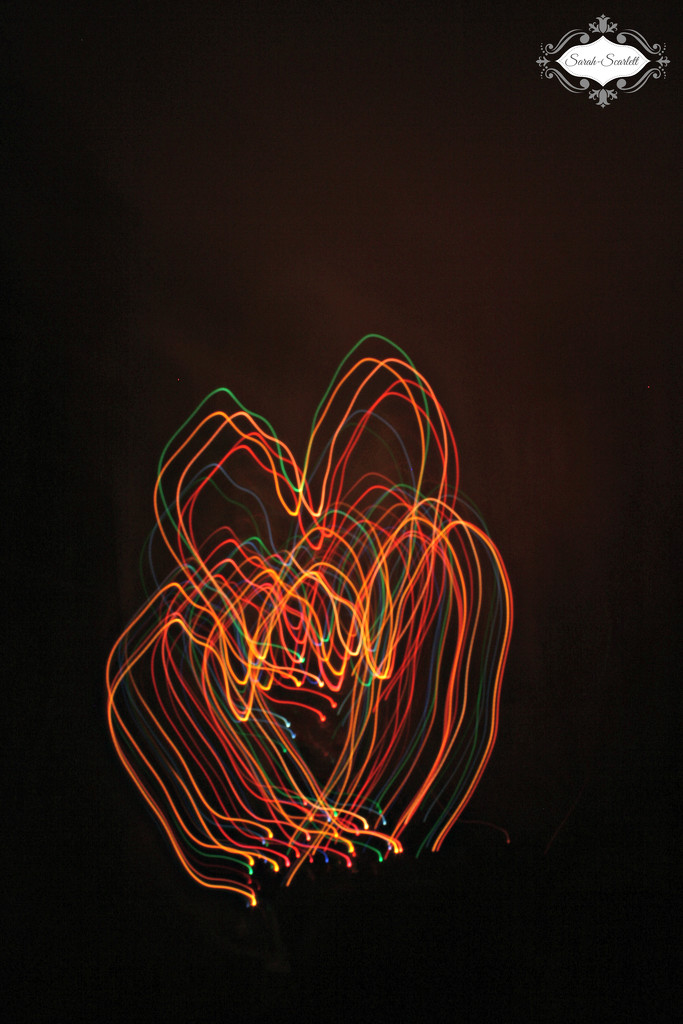 Light trail hearts by sarahlh