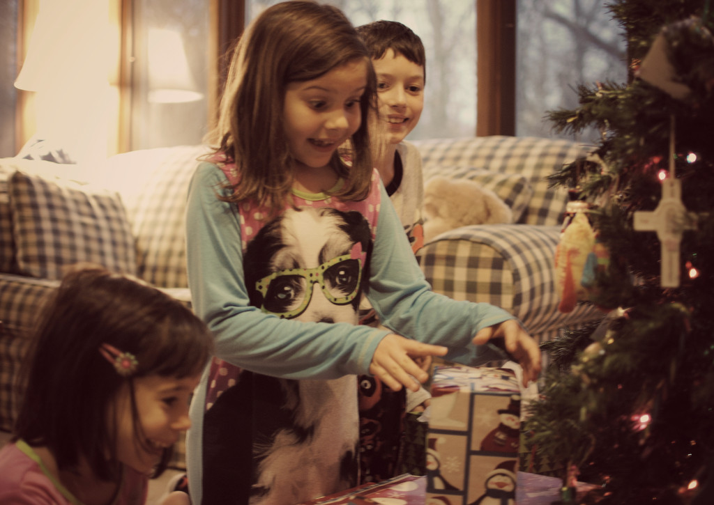 Nostalgic Childhood Wonder on Christmas Morning by alophoto
