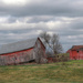 Crooked barn by mittens