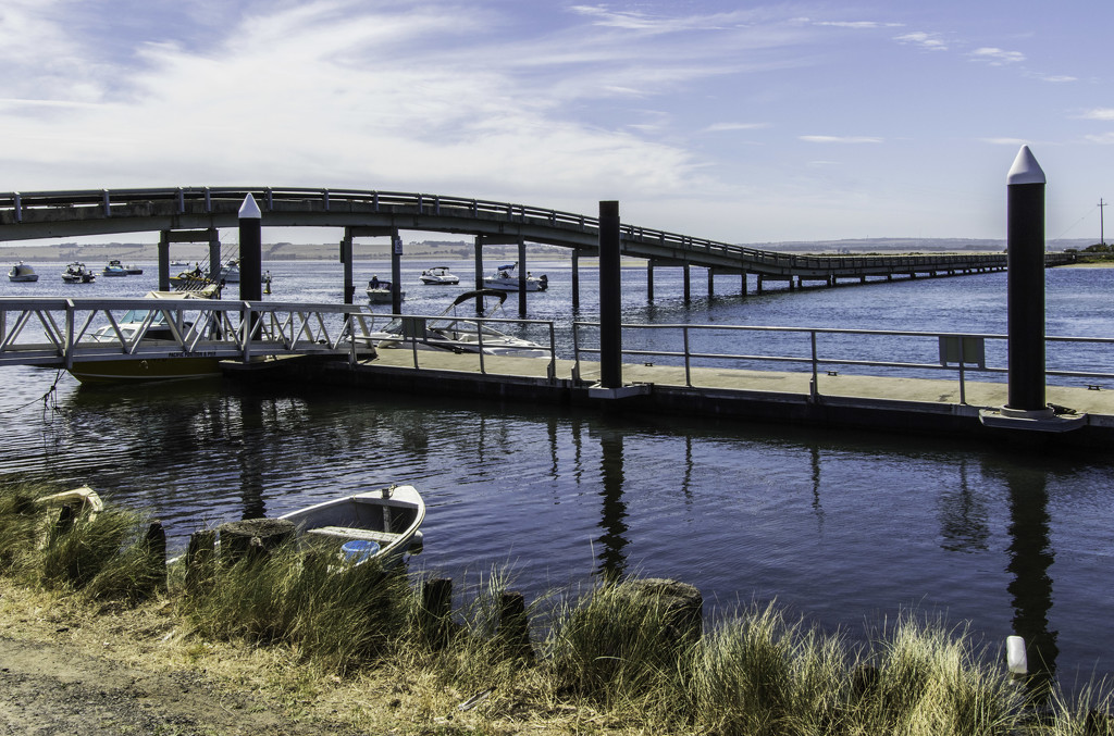 Swan Island bridge by golftragic