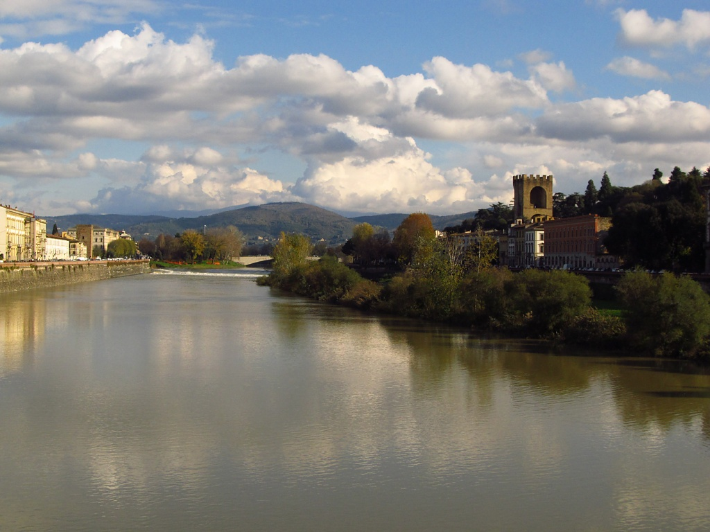 Florence, Italy_The Arno River by Weezilou