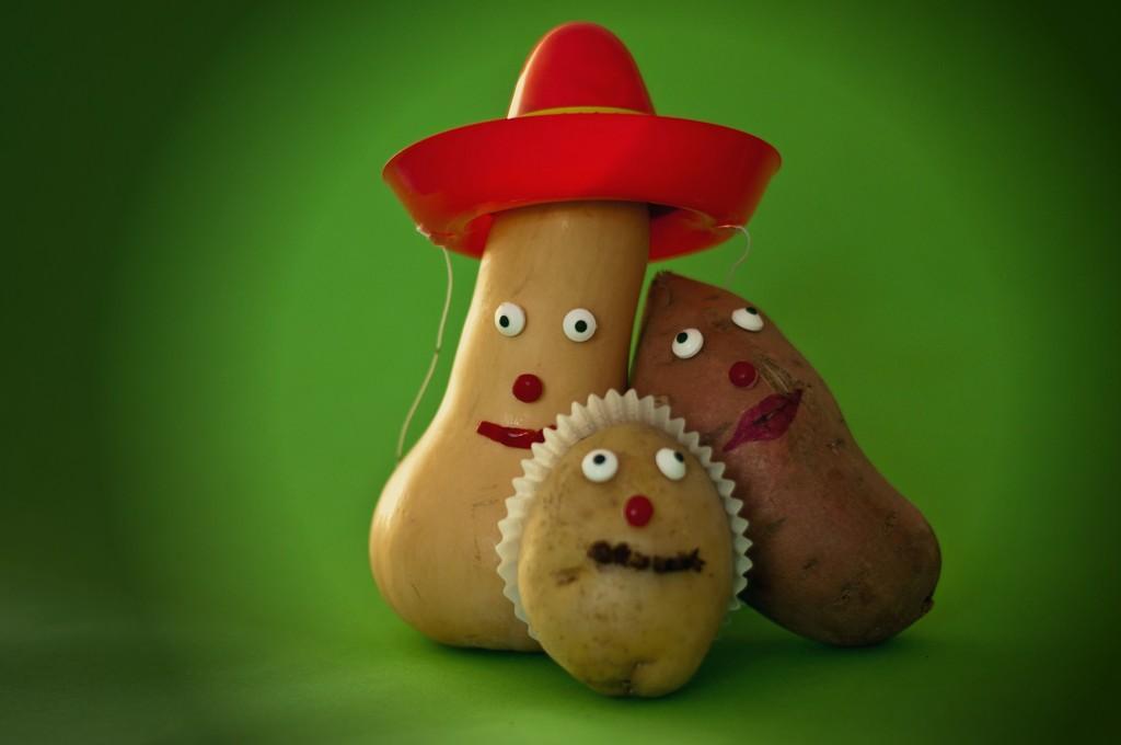 Two Potatoes & a Squash Walk Into a Mexican Bar.... by dianen