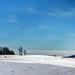 Silo in the snow