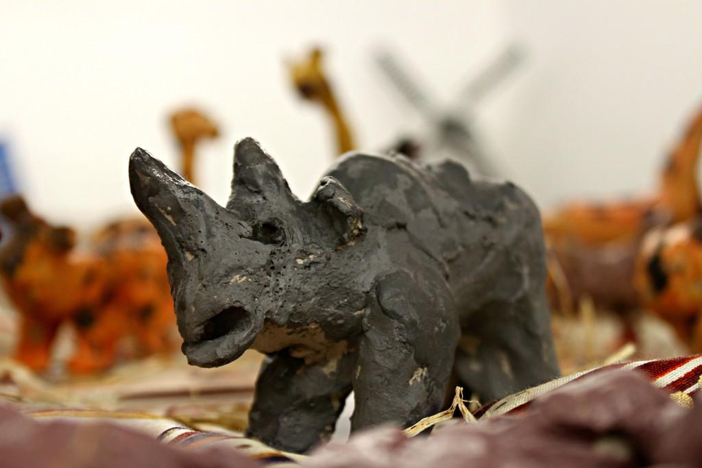 Clay rhinoceros by kimcrisp
