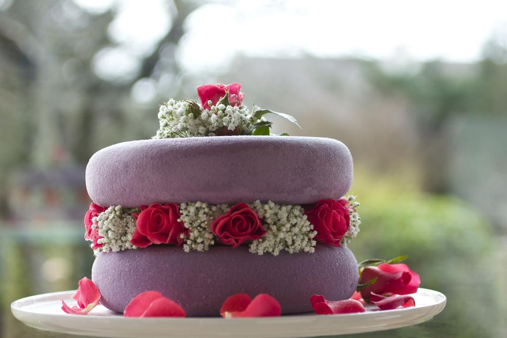 Rose Sponge Cake by jamibann