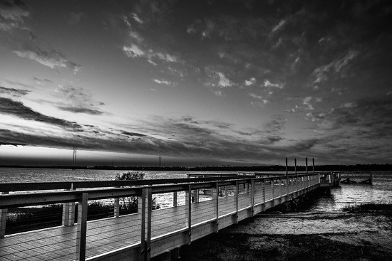 A black and white sunset by riverlandphotos