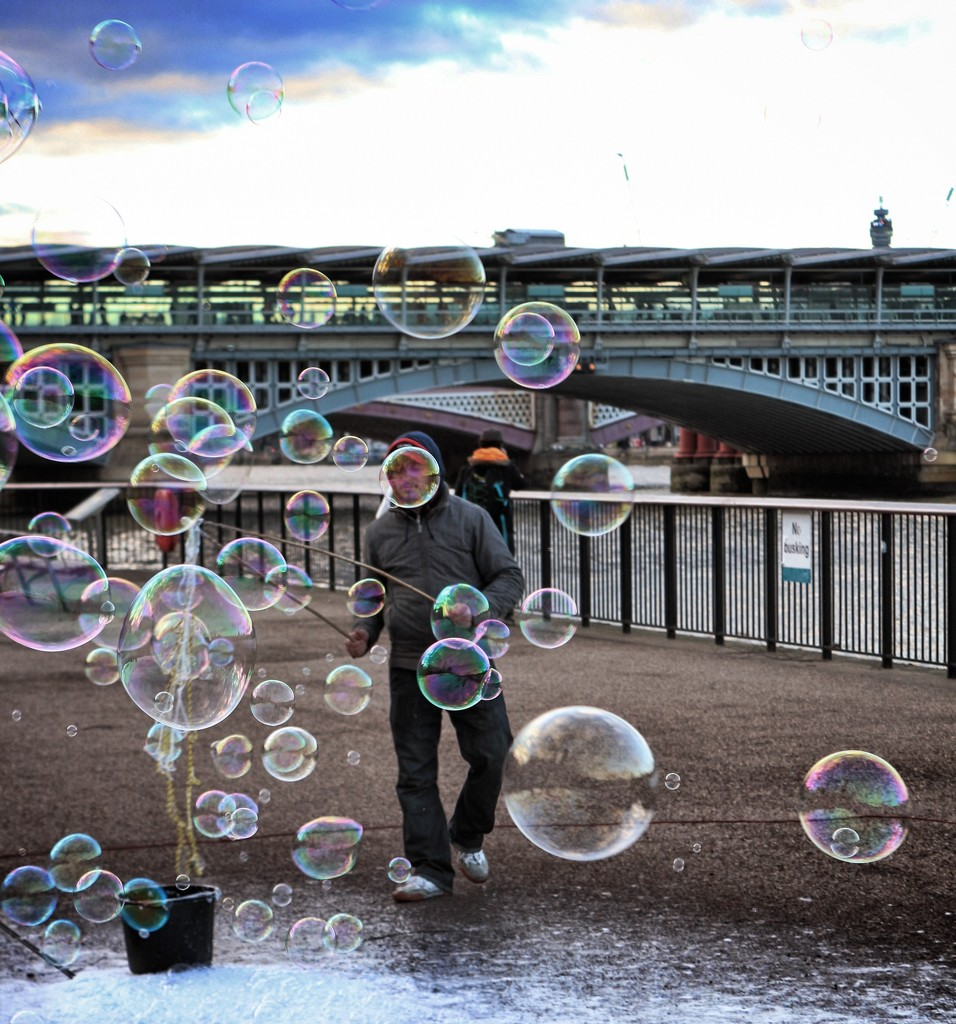 Bubble head by swillinbillyflynn