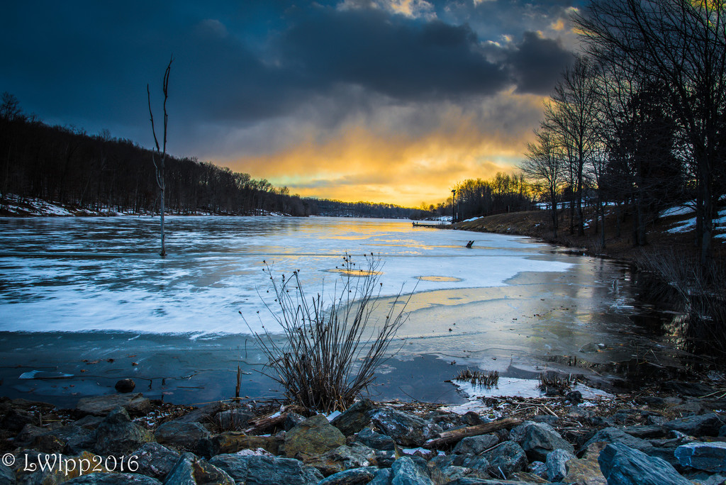 Frozen Lake and Frozen Fingers  by lesip