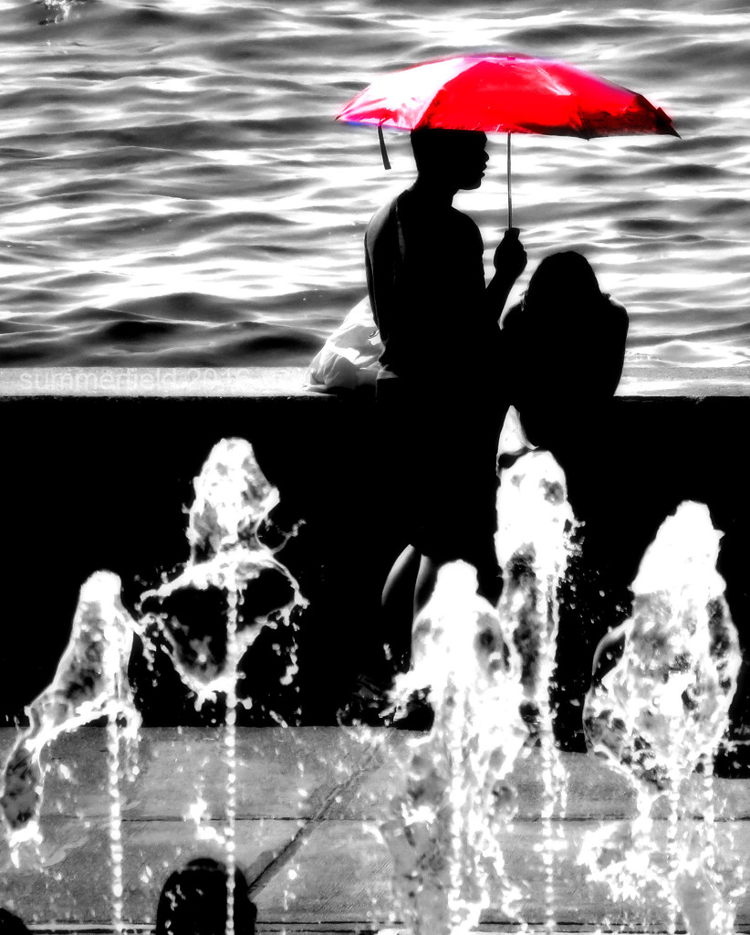 love under the red umbrella by summerfield