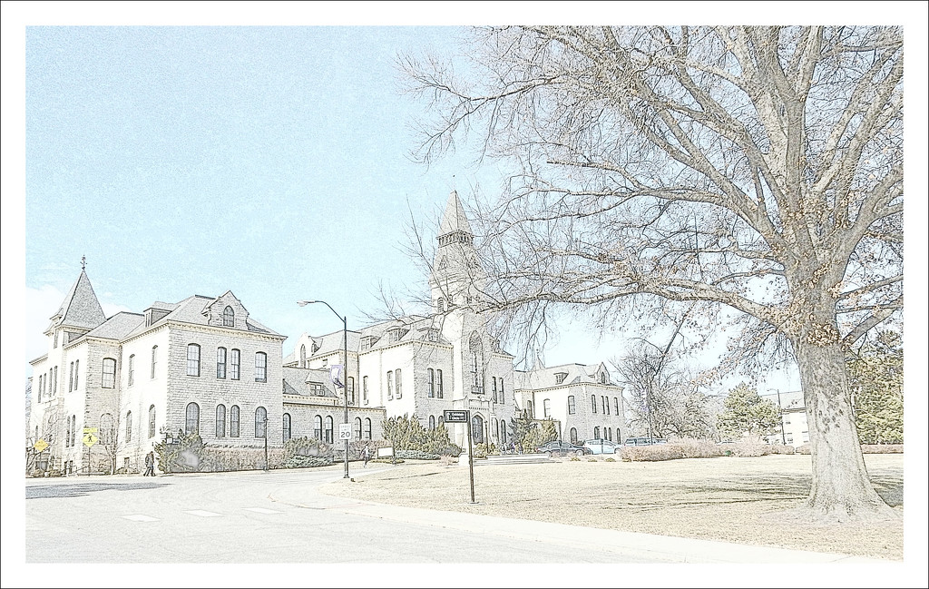 Anderson Hall on the campus of Kansas State University by mcsiegle