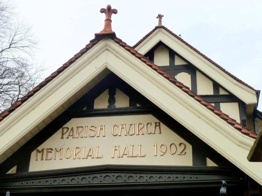 Parish church memorial hall 1902 by boxplayer