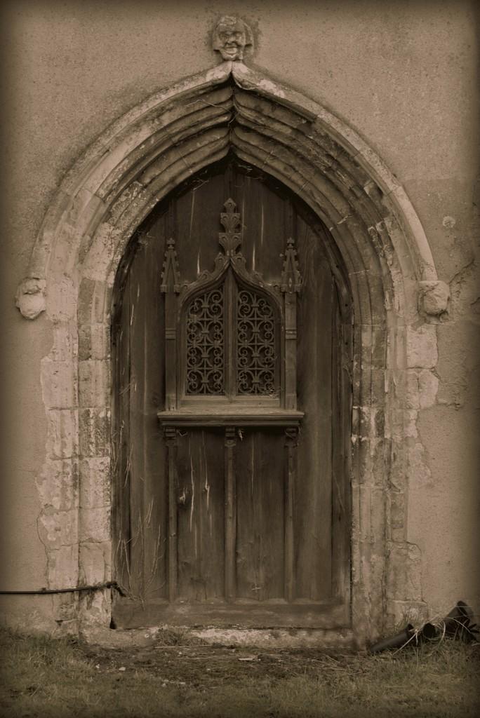 The old church door by judithdeacon