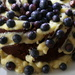 Chocolate cake with Blueberries & white chocolate  by bizziebeeme