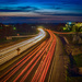 Blue Hour Light Trails by rosiekerr
