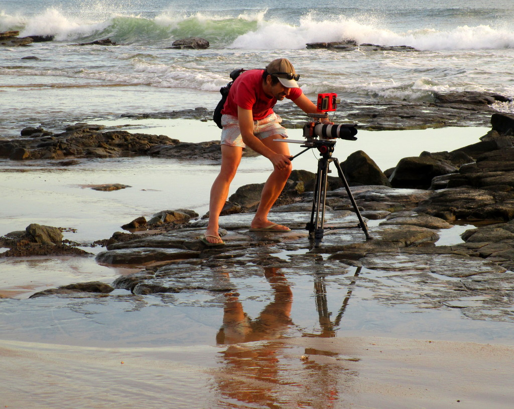 Aiming for the best sunrise shot  Mooloolabah Easter Sat  Sunshine Coast by 777margo