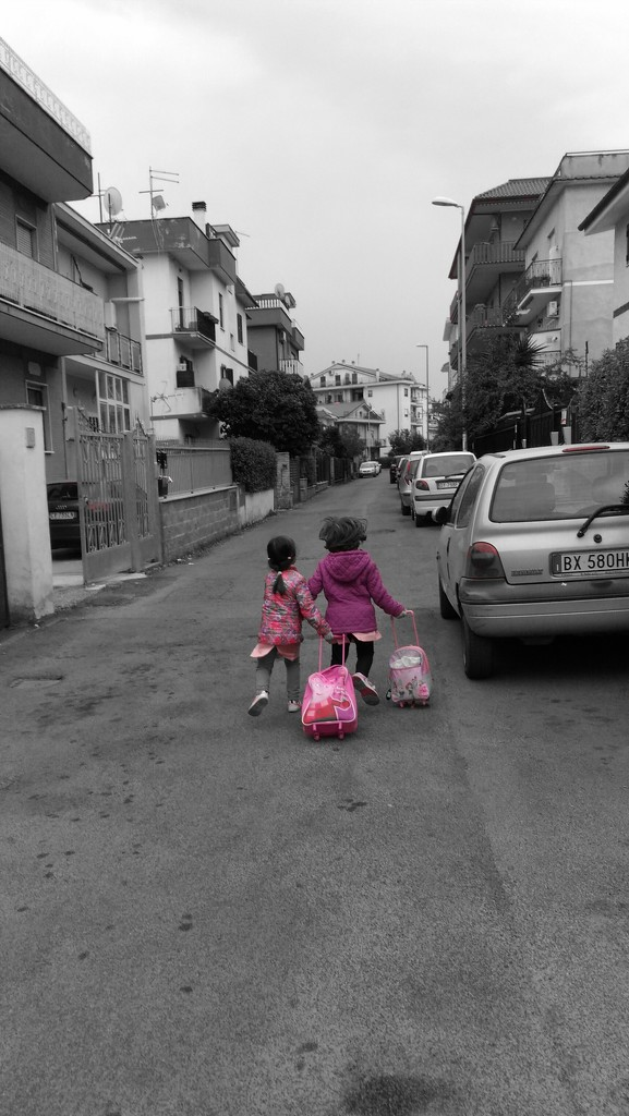 Friendship in pink&violet! by frappa77