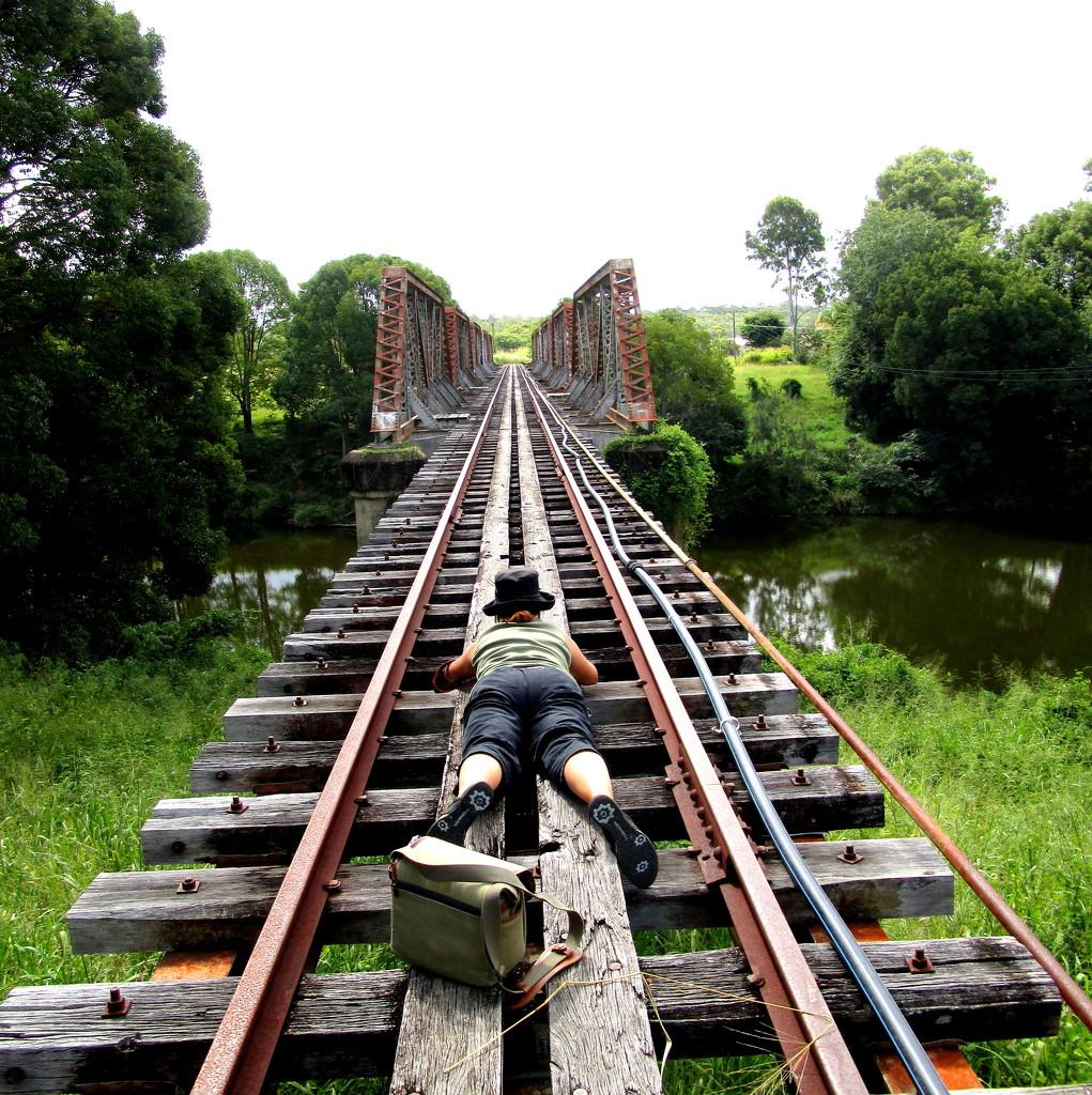 Imbill railway Bridge.  Not used anymore. by 777margo