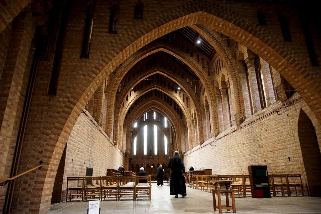 'NONE' at Quarr Abbey by quietpurplehaze