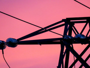 20th Apr 2016 - 20/04/16 Pylon & pink sky
