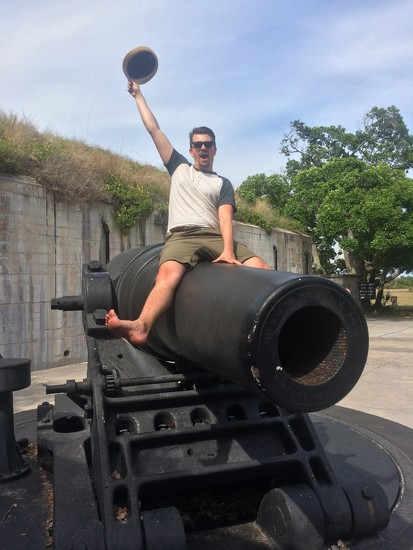 Riding a cannon by Scrivna