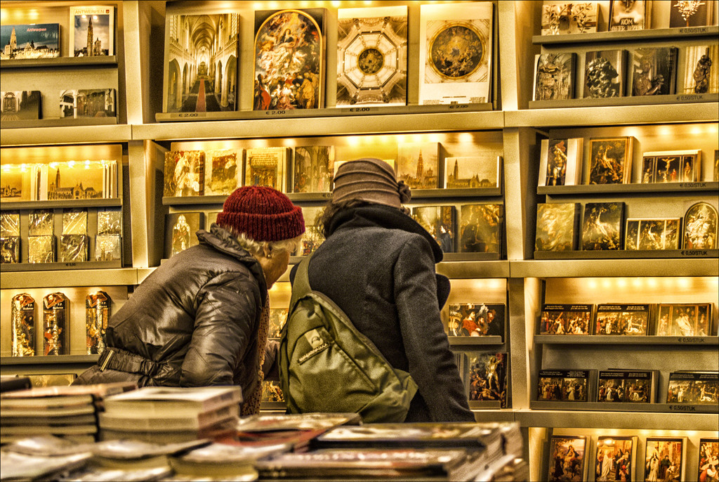 In the cathedral bookshop by ivan