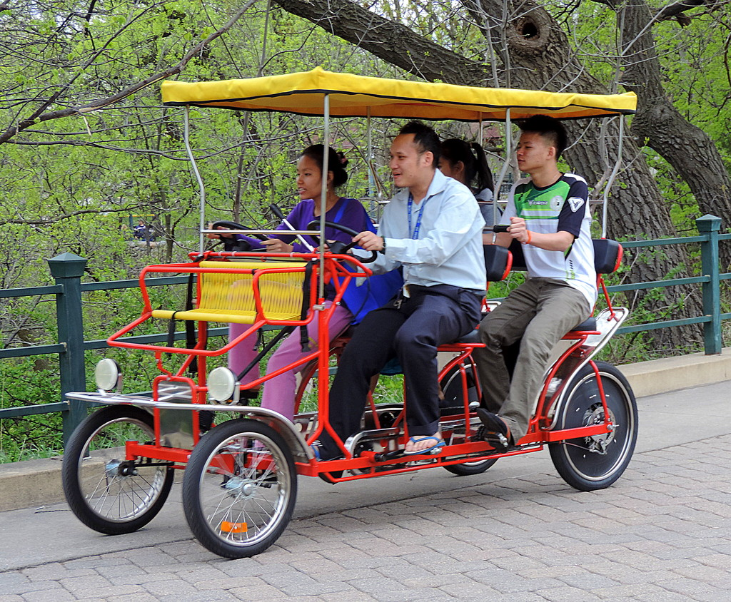 On a bicycle built for four! by homeschoolmom