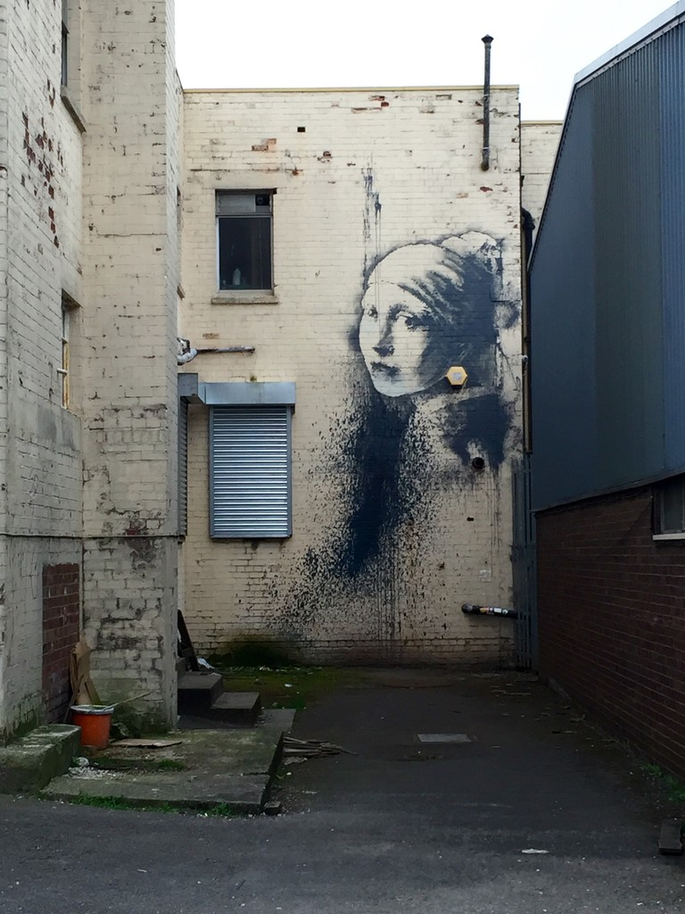 Girl with a Pearl Earring - Banksy style! by mandapanda1971