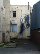21st Apr 2016 - Girl with a Pearl Earring - Banksy style!