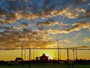 25th May 2016 - Sun sets at the ballpark