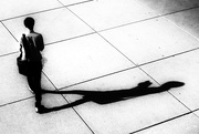 30th May 2016 - a man and his shadow: inextricably linked
