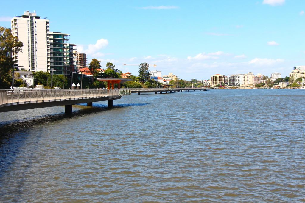 Riverwalk Downstream by terryliv